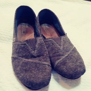 Toms gray slip on shoes. Size 9.5